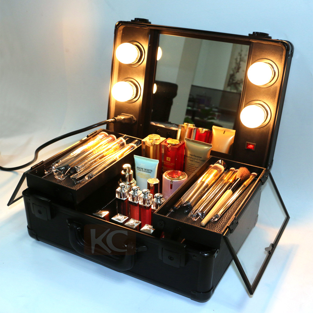 Lighting Rolling Cosmetic CaseProfessional Makeup Case
