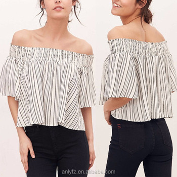 60dc537bdac418 Ladies Tops Images Of Off The Shoulder Short Sleeve Loose T Shirts ...