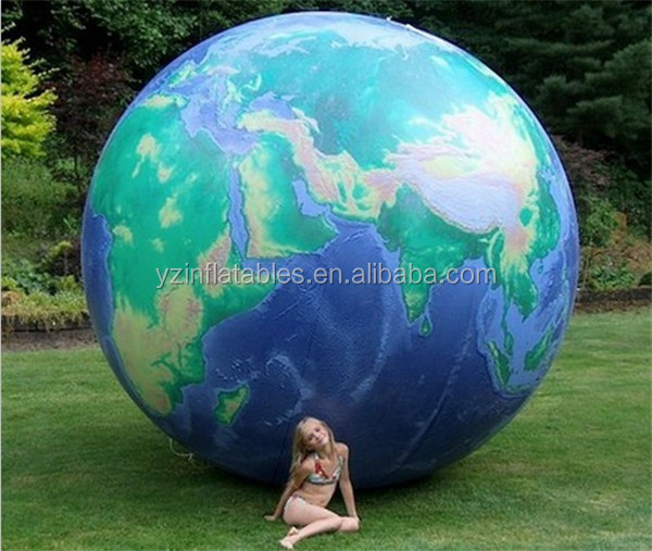 168 Inch Inflatable Astronauts View Earth Globe Wclouds