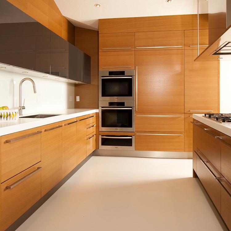 Modern Wood Grain Kitchen: Modern Simple Furniture Wood Grain Kitchen Cabinet