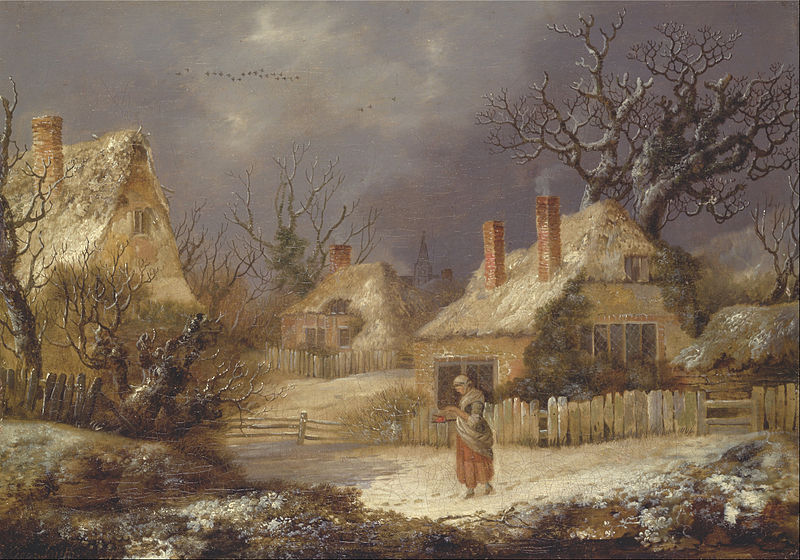 Canvas Art Prints Fabric Wall Decor Giclee Oil Painting George Smith - A Winter Landscape