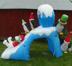 Super quality cute inflatable christmas slide on sale