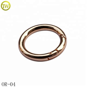 Wholesale handbag O fitting ring accessories small metal spring rings
