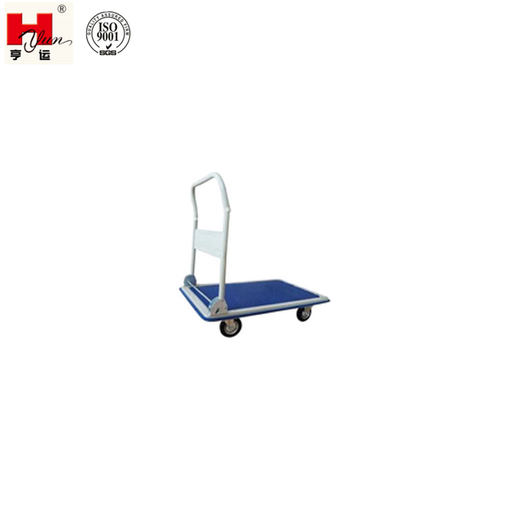 Hot Sale Factory Workshop Small Folding Flatbed Trolley with Four Wheels