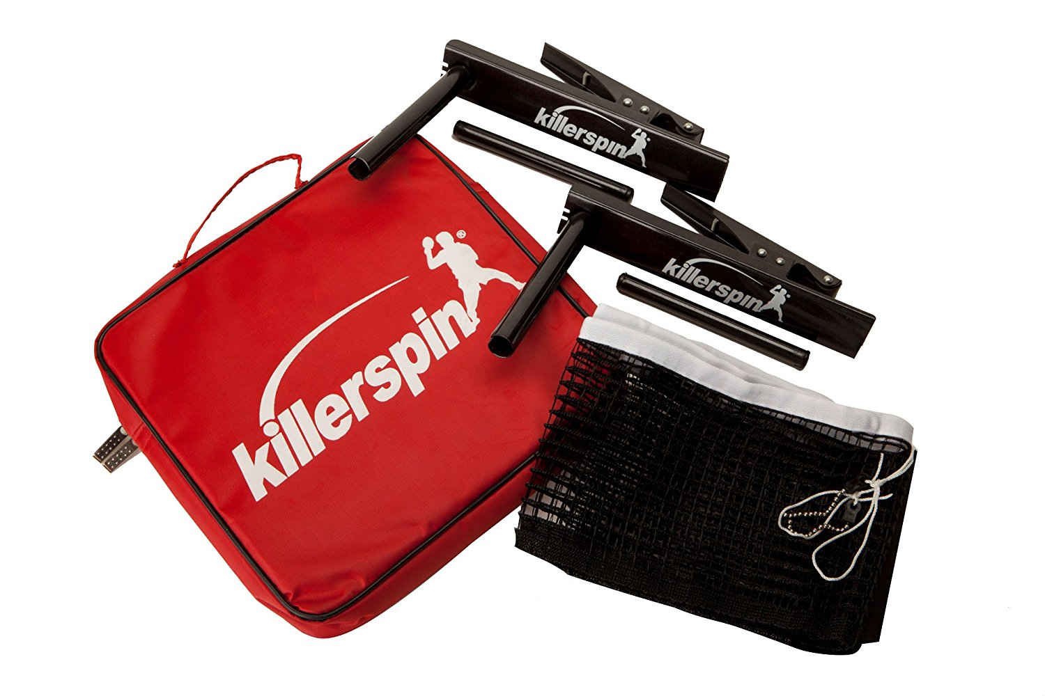 Killerspin Table Tennis Clip-On Net & Post Set, Definitely The Easiest Net & Post Set to Assemble Black, Fits Most Standard Table Tennis Tablesup to A Table Width of 1""