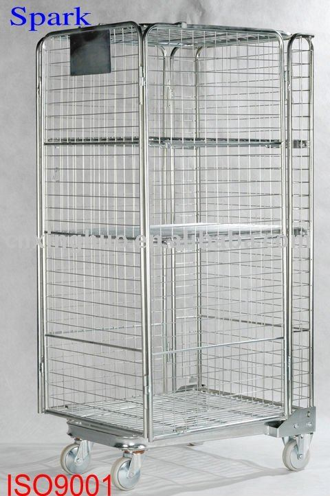 Wonderful Galvanized Security Storage Trolley/wire Mesh Cage Cart   Buy Storage  Trolley,Manual Trolley,Logistic Table Trolley Product On Alibaba.com