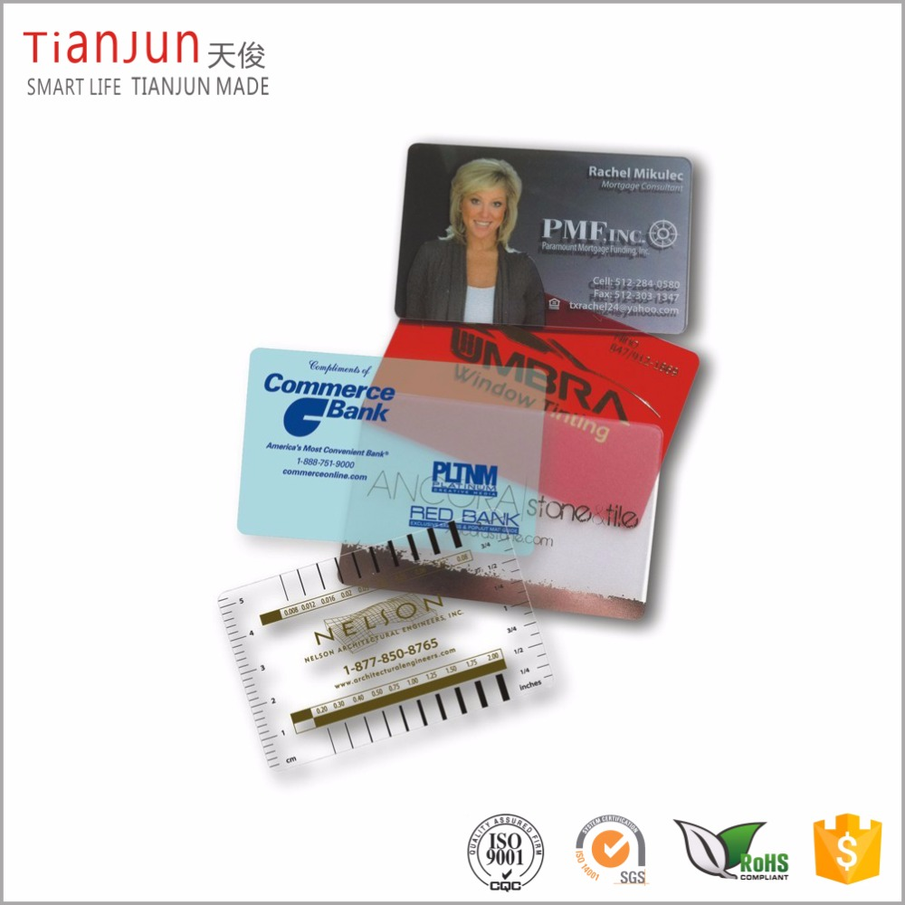 Full color printing plastic pvc smart gift business card eco-friendly pvc material