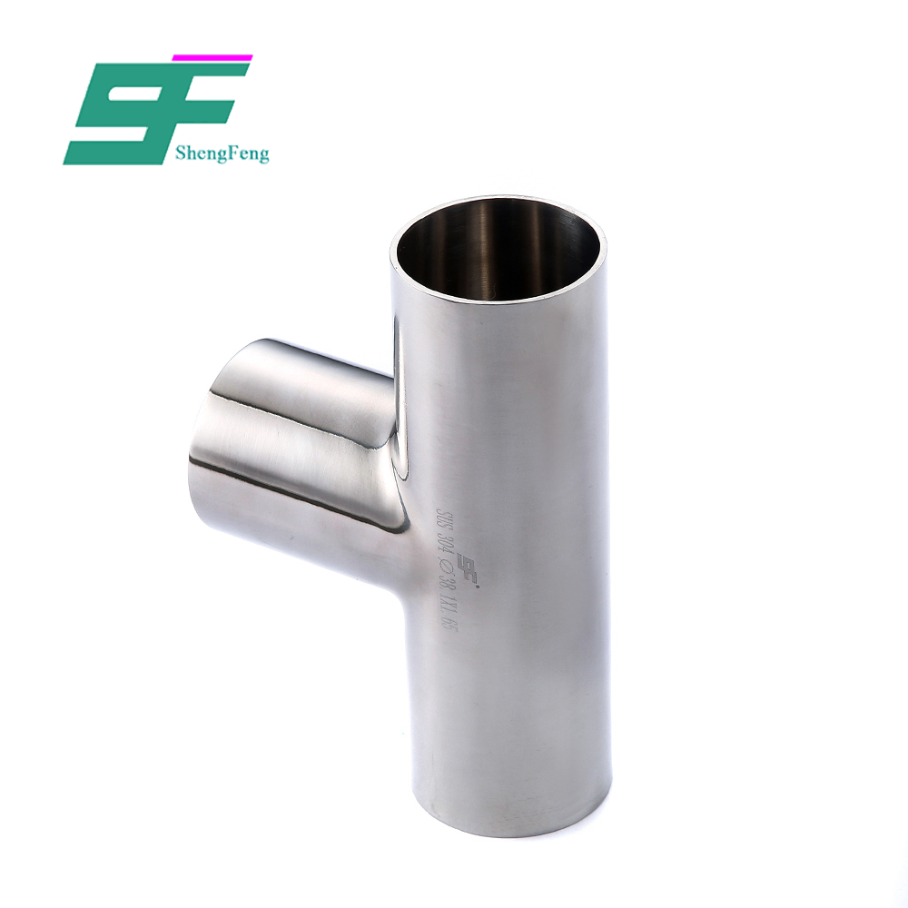 Sell well durable butt weld fitting stainless steel Sanitary Tee