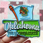 Funny Custom Printing advertising magnets,OKLAHOMA THE SOONER STATE pvc magnet,Glossy chef fridge magnet ---DH20334