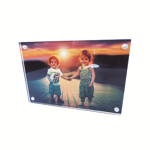 Double sided clear acrylic 8x10 4x6 5x7 plastic magnetic picture photo frame