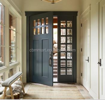 Modern elegant modern front entry door solid wood main for Elegant main door designs
