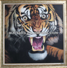 2017 handmade boutique animal oil painting tiger on canvas