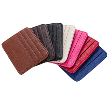 Wholesale baellerry cheap slim pu leather credit card holder