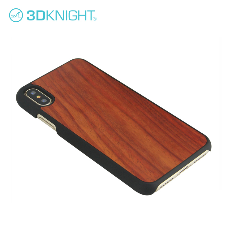 Customize Logo Phone Cover Wood Pc Case For iPhone X