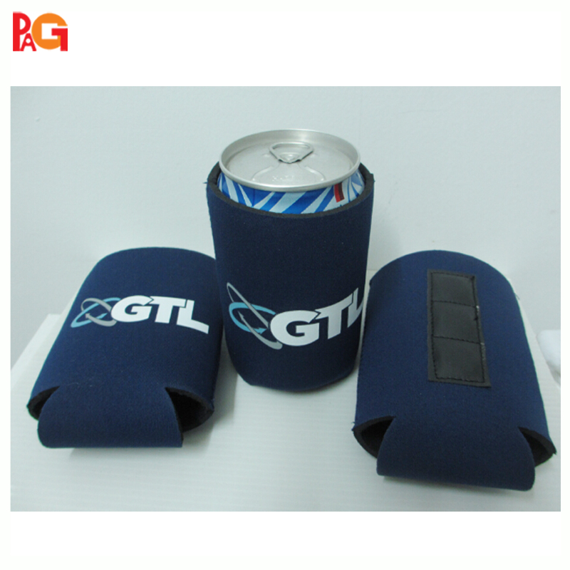 zigzag stitching magnetic can cooler cover