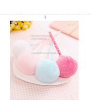 Good quality creative novelty pom pom pen fluffy ball pen