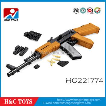 617 Pcs,Child Play With The Ak47 Block Toy Gun Hc221774