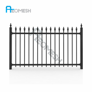 Hot Sale with high quality Aluminum Protection Residential house fence/iron mesh fence gate/Metal T Bar Fence Post