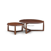 solid ash wood painted with walnut wood color new Style Round Wood Coffee Table