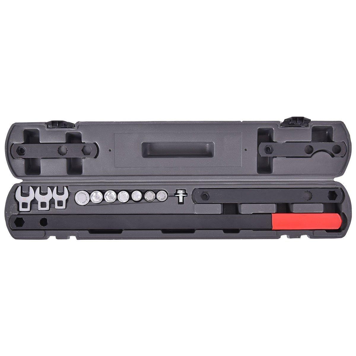 New 16PC Ratcheting Wrench Serpentine Belt Tool Kit Automotive Repair Set Sockets