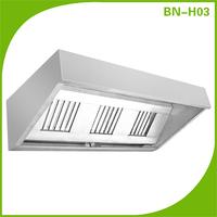 Stainless steel range hood,commerical restaurant kitchen hood