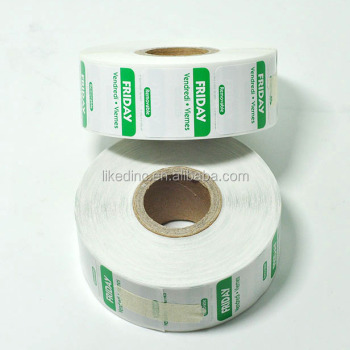 Friday FIFO Removable food safety label ,food rotation label for food labeling
