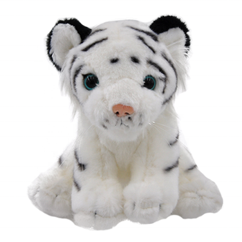 New gray white stripe tiger Stuffed Animals ty tiger soft toys