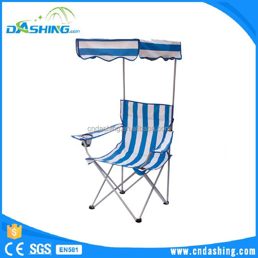 Outdoor leisure folding beach chair with sun shade,portable beach camping chair