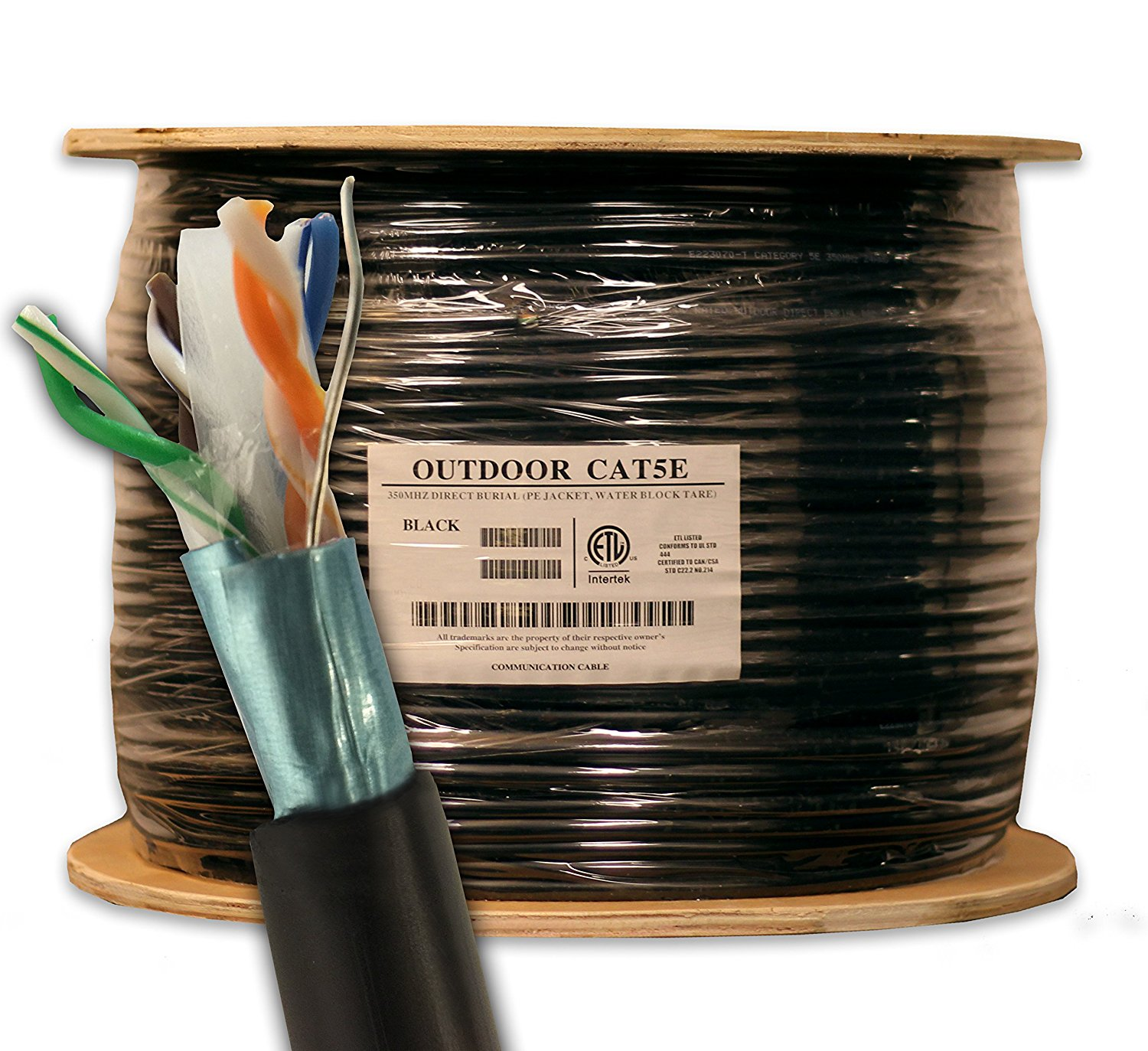 Cheap Outdoor Cat5e Shielded Find Deals On Wiring Ftp Cat5 Solid Cable China Get Quotations 1000ft Waterproof Direct Burial Rated Cmx