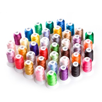 40 Brother Colors Polyester Machine Embroidery Thread for Brother Janome Singer etc home embroidery machine 500m each - 20 sets