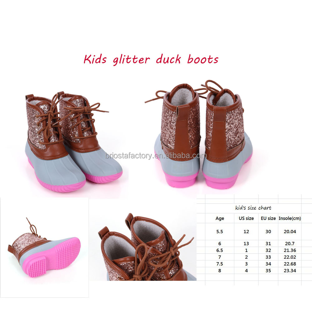 Wholesale Customized Fashion Kids Glitter Boot