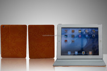 Fashion texture pu leather protective case for ipad