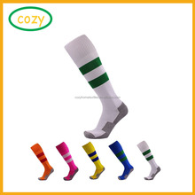 Wholesale 2017 High Quality Knee High Colored Cotton Football Socks Sell Well Eco-Friendly Custom Soccer Socks
