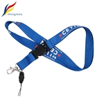 YIFY Custom Polyester Cell Phone Plastic buckle ID Badge Holder blue Neck Lanyard