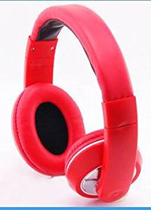 Premium Over-Head Stereo Headphones Hands-Free Headset with Microphone for iPad Mini 3/ iPad Air2/ iPad Mini 2/ iPad Air/ iPad Mini/ iPad 4/ iPod touch 5th generation/ iPad 3 - Red + MYNETDEALS Stylus