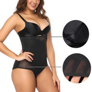 Women's Tummy Control Shapewear Hi-Waist Seamless Firm Body Shaper Butt Lifter Bodysuit
