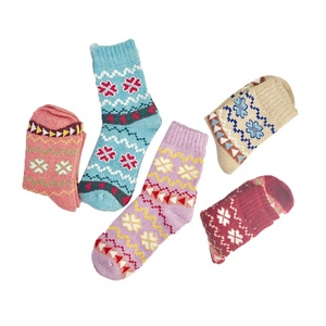 Wholesale Women Thicken Cashmere Wool Warm High Quality Beautiful Ethnic Socks
