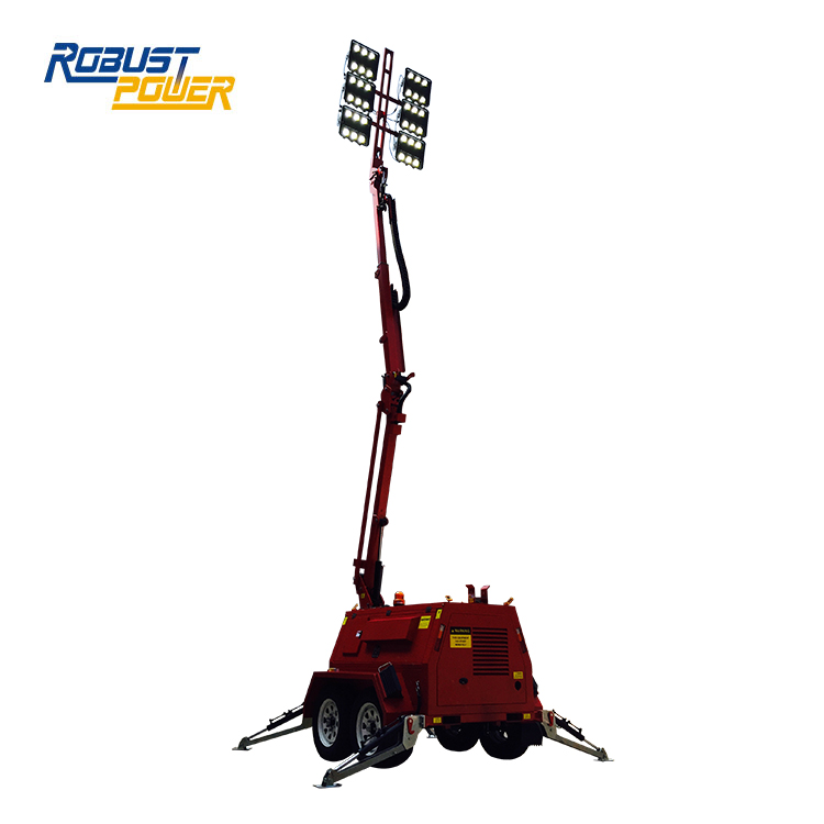 Waterproof Ip65 48v Dc Hydraulic Mast Generator With Light