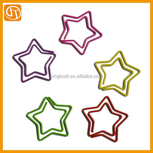Lovely Star Shaped Metal Paper Clips Custom Paper Clips