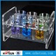 acrylic shot glass tray drink holder with 6 hole