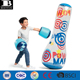 heavy duty vinyl inflatable bop bag and boxing glove durable plastic blow up knock around set