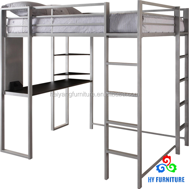 Cheap Adult Metal Bunk Beds Loft Beds Steel Bed With Desk Wholesale