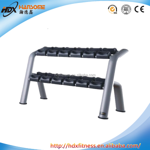 Commercial fitness gym equipment manufacturer 10 Pair Dumbbell Rack free weight for training club or gym HDX-T042
