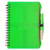 A5 size compact portable brand logo print PP plastic cover spiral loop binding elastic belt click ball pen paper lines note book