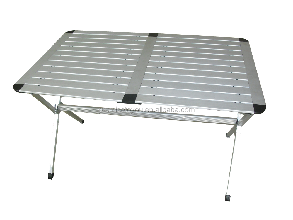 roll up top aluminum camp portable camping picnic table buy roll up top aluminum camp portable. Black Bedroom Furniture Sets. Home Design Ideas