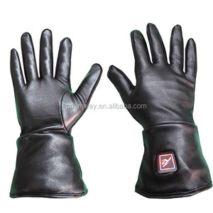 2018 hot sales ski snowboard motorcycle rechargeable battery heated leather gloves