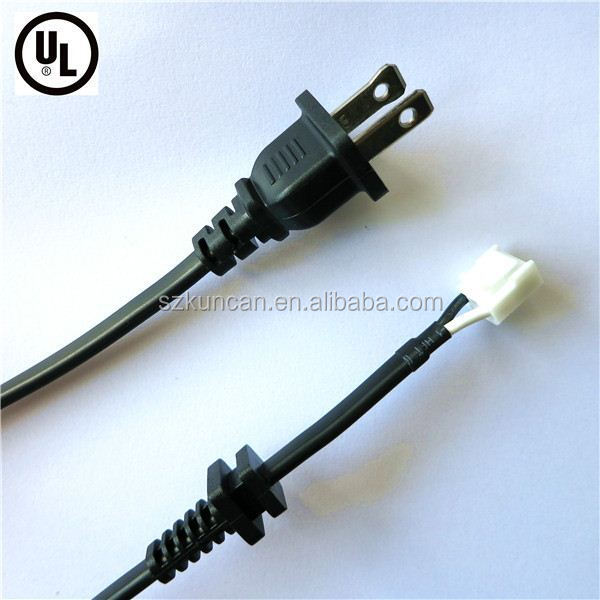 Pin Polarized Plug Etl Approval American Extension Power Cord For