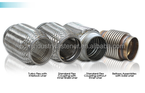 Inch stainless steel exhaust braided flexible pipes