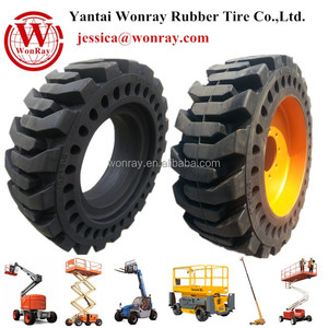 Electric and Diesel boom lift Wheels solid rubber airless tire rims
