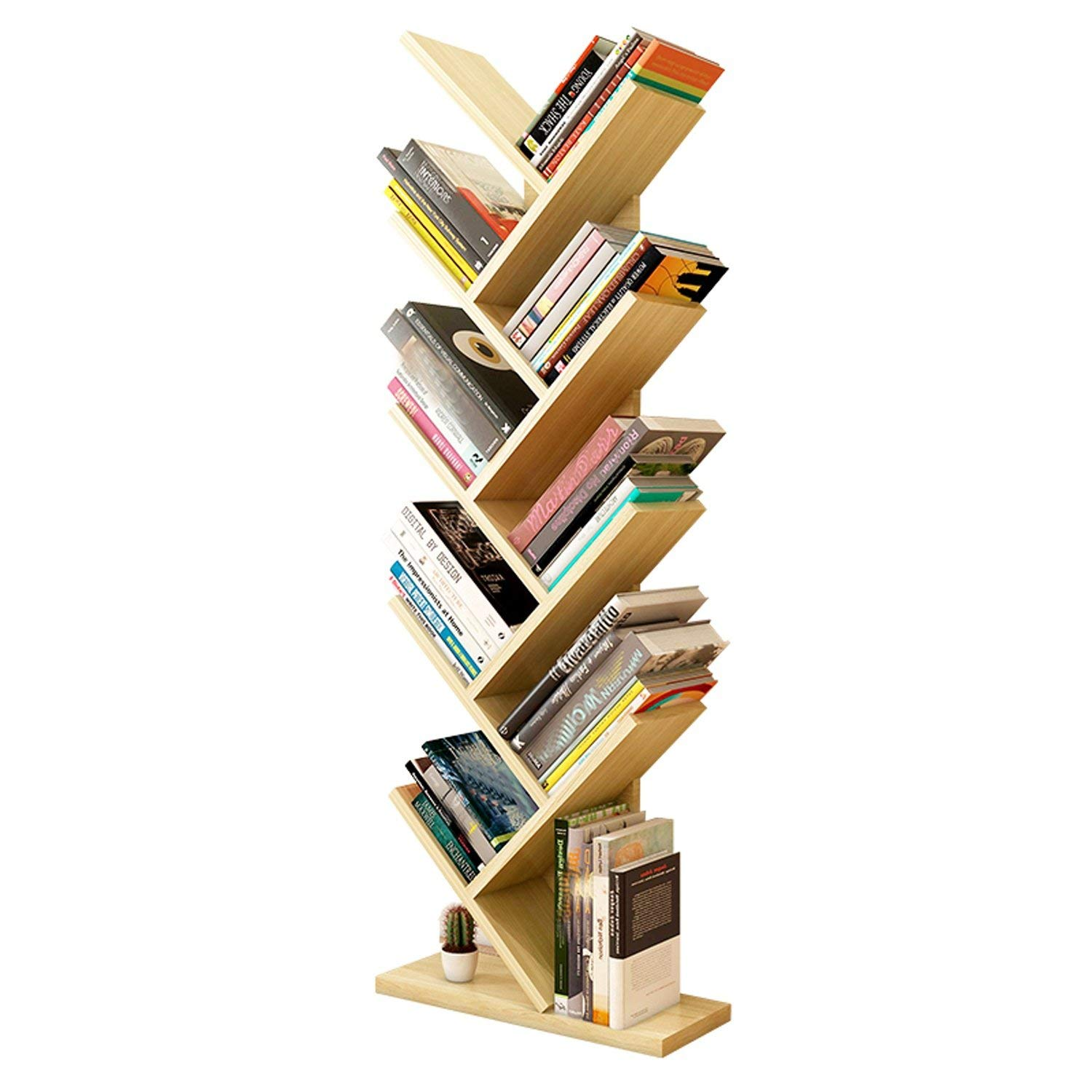 Get Quotations JUIANG Creative Tree Shape 9 Layers Bookshelf Modern Living Room To Ground Rack Personality Bedroom